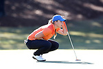 WILMINGTON, NC - OCTOBER 27: Florida's Taylor Tomlinson on the 13th green. The first round of the Landfall Tradition Women's Golf Tournament was held on October 27, 2017 at the Pete Dye Course at the Country Club of Landfall in Wilmington, NC.