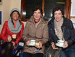 Linda McCarthy, Ann and Carmel Smith pictured at the Mulled Wine fundraiser in Clogherhead Lifeboat Station. Photo:Colin Bell/pressphotos.ie