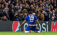 Diego Costa of Chelsea shows his frustration during the UEFA Champions League group G match between Chelsea and FC Porto at Stamford Bridge, London, England on 9 December 2015. Photo by Andy Rowland.