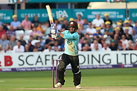 Sam Curran hits four runs for Surrey during Essex Eagles vs Surrey, NatWest T20 Blast Cricket at The Cloudfm County Ground on 7th July 2017