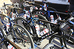 BePink team De Rosa bikes lined up before the Strade Bianche Women Elite 2019 running 133km from Siena to Siena, held over the white gravel roads of Tuscany, Italy. 9th March 2019.<br /> Picture: Eoin Clarke | Cyclefile<br /> <br /> <br /> All photos usage must carry mandatory copyright credit (© Cyclefile | Eoin Clarke)