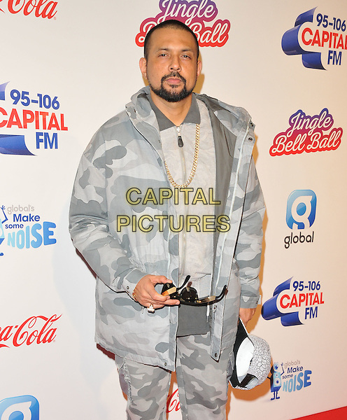 Sean Paul at the Capital FM Jingle Bell Ball, The London O2 Arena, Peninsula Square, London, England, UK, on Saturday 03 December 2016. <br /> CAP/CAN<br /> &copy;CAN/Capital Pictures