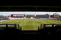 A view from the media centre ahead of Lancashire CCC vs Essex CCC, Specsavers County Championship Division 1 Cricket at Emirates Old Trafford on 10th June 2018