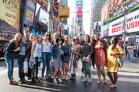 Fall Break trip to New York City: graphic design and fine art students from the Department of Art.  At Times Square.<br />  (photo by Megan Bean / &copy; Mississippi State University)