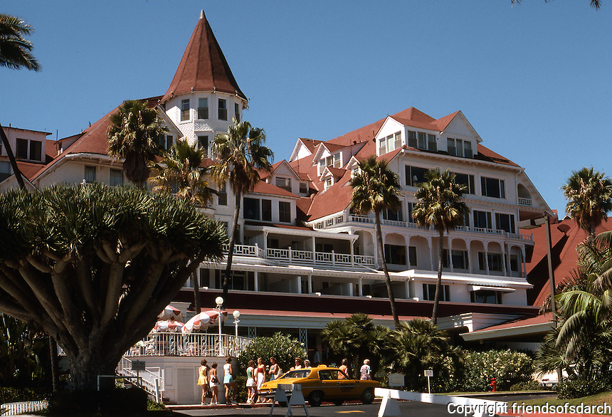 Coronado: Hotel Del Coronado. James, Merritt & Watson Reid, Architects. Late Victorian. NRHP in 1971. Photo '78.