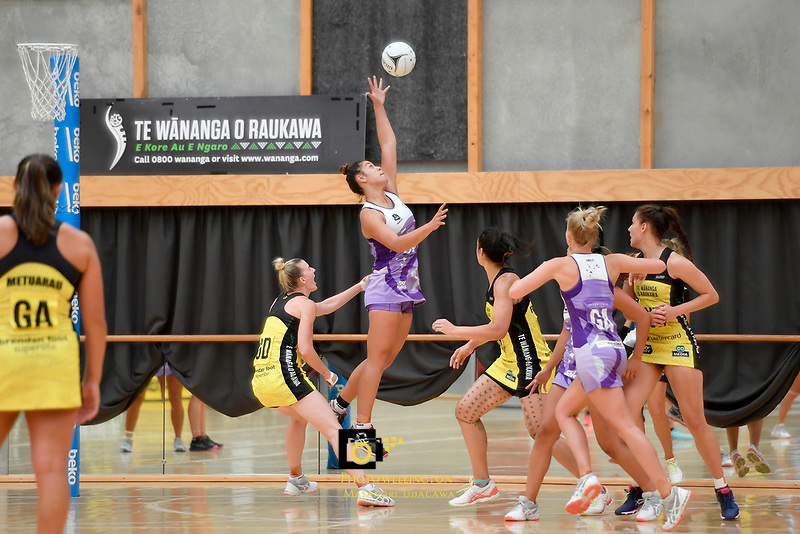 Stars' Maia Wilson in action during the Netball Pre Season Tournament - Pulse v Stars at Ngā Purapura, Otaki, New Zealand on Saturday 9 February  2019. <br />
