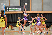 Stars&rsquo; Maia Wilson in action during the Netball Pre Season Tournament - Pulse v Stars at Ngā Purapura, Otaki, New Zealand on Saturday 9 February  2019. <br />
