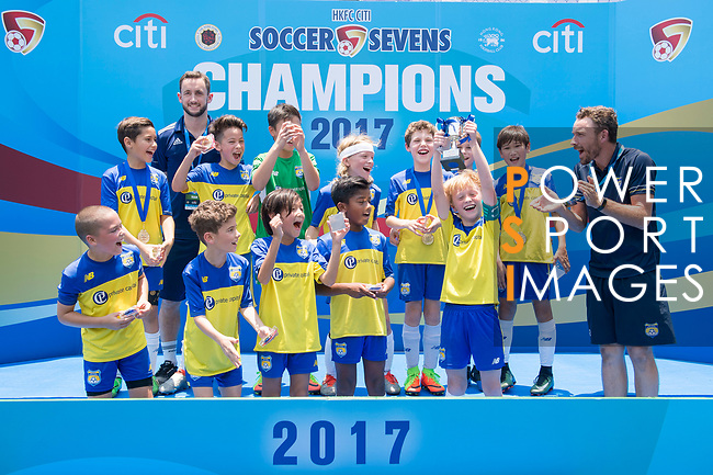 U-10 Juniors Tournament Cup Final match, part of the HKFC Citi Soccer Sevens 2017 on 28 May 2017 at the Hong Kong Football Club, Hong Kong, China. Photo by Marcio Rodrigo Machado / Power Sport Images