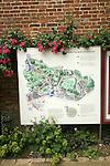 Plan diagram map of Lewes castle, East Sussex, England