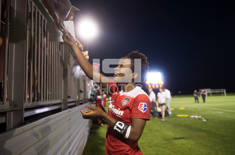 Boyds, MD - June 24, 2017: The Washington Spirit defeated the Portland Thorns 1-0 during a National Women's Soccer League (NWSL) match at the Maryland SoccerPlex.