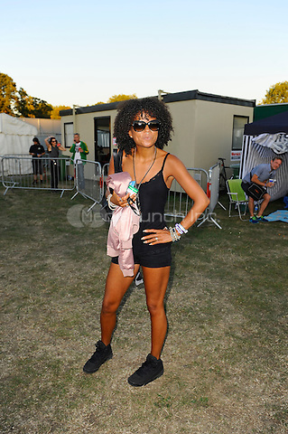 LONDON, ENGLAND - AUGUST 29: Ms. Dynamite (Niomi Arleen McLean-Daley) backstage at 'House of Common', Clapham Common on August 29, 2016 in London, England.<br /> *EXCLUSIVE - BEST RATES APPLY*<br /> CAP/MAR<br /> &copy;MAR/Capital Pictures/MediaPunch
