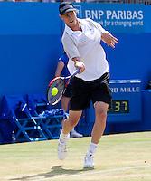 Sam Querrey (USA) against Mardy Fish (USA) in the final of the men's singles. Sam Querrey beat Mardy Fish 7-6 7-5..Tennis - ATP World Tour - AEGON Championships - Queen's Club - London - Day 7 - Sun 13 Jun 2010..© Frey - AMN Images,  1st Floor, Barry House, 20-22 Worple Road, London SW19 4DH.Tel - +44 (0) 208 947 0100.email - mfrey@advantagemedianet.com.www.advantagemedianet.com