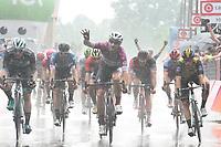 23rd May 2018, Giro D italia; stage 17 Riva Del Garda to Iseo; Quick Step - Floors; 2018, Lotto Nl - Jumbo; 2018, Bora - Hansgrohe; 2018, Bmc Racing Team; 2018, Lotto - Soudal; Viviani, Elia; Van Poppel, Danny; Bennett, Sam; Drucker, Jempy; Debusschere, Jens; Iseo;