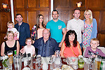Bill and Patsy Clifford from Ashgrove, Ballyvelly, Tralee celebrating their 40th Wedding Anniversary at Denny Lane Bistro on Saturday.  Front row left to right, Laura Clifford, Chloe Clifford, Bill Clifford, Patsy Clifford, Kyle Clifford.  Back row left to right, Mark Clifford, Robin Clifford, Eimear Clifford, Craig Clifford, Billy Clifford and Fiona Clifford