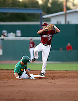 Justin Parker / Yakima Bears turns a double play in a game against the Boise Hawks - Boise, ID - 08/27/2008..Photo by:  Bill Mitchell/Four Seam Images
