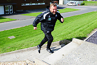 Billy Reid, assistant manager for Swansea runs out to the Swansea City Training Session at The Fairwood Training Ground, Wales, UK. Thursday 30th August 2018