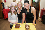 Jessica and Nicola  McGrane with Emma Maguire also celebrating their birthdays at Jacinta Maguires 50th in the Rugby Club...Photo NEWSFILE/Jenny Matthews.(Photo credit should read Jenny Matthews/NEWSFILE)....This Picture has been sent you under the condtions enclosed by:.Newsfile Ltd..The Studio,.Millmount Abbey,.Drogheda,.Co Meath..Ireland..Tel: +353(0)41-9871240.Fax: +353(0)41-9871260.GSM: +353(0)86-2500958.email: pictures@newsfile.ie.www.newsfile.ie.FTP: 193.120.102.198.