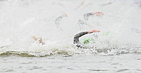 07 AUG 2012 - LONDON, GBR - Alistair Brownlee (GBR) of Great Britain (foreground) at the start of the swim during the men's London 2012 Olympic Games Triathlon in Hyde Park, London, Great Britain (PHOTO (C) 2012 NIGEL FARROW)