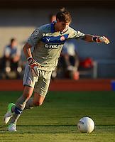 FUSSBALL  DFB POKAL        SAISON 2012/2013 SV Wacker Burghausen - Fortuna Duesseldorf  19.08.2012 Torwart Fabian Giefer (Duesseldorf)