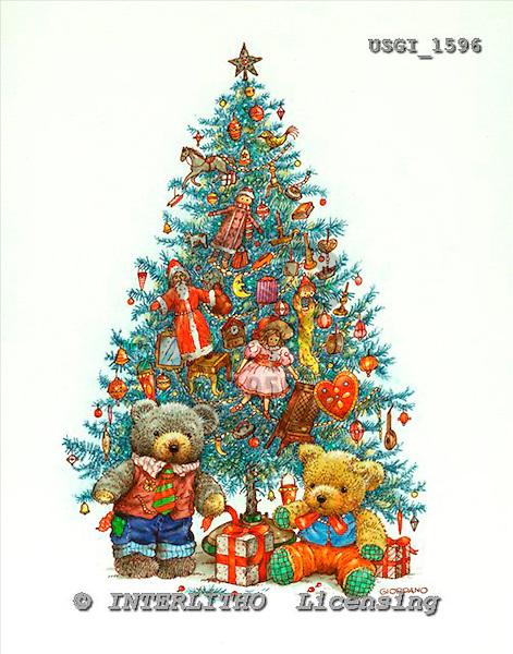 GIORDANO, CHRISTMAS ANIMALS, WEIHNACHTEN TIERE, NAVIDAD ANIMALES, Teddies, paintings+++++,USGI1596,#XA#