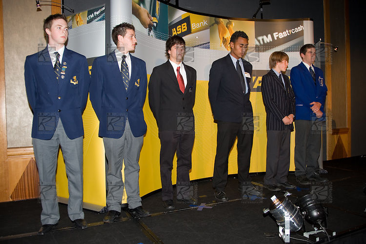 Sportsman of the Year finalists. ASB College Sport Young Sportperson of the Year Awards 2007 held at Eden Park on November 15th, 2007.