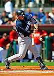 2 March 2009: New York Yankees' catcher Jorge Posada gets a broken-bat RBI single in the first inning of a Spring Training game against the Houston Astros at Osceola County Stadium in Kissimmee, Florida. The teams played to a 5-5, 9-inning tie. Mandatory Photo Credit: Ed Wolfstein Photo