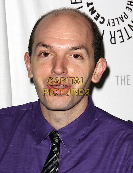 PAUL SCHEER .27th Annual PaleyFest Presents the television show 'Lost' held At The Saban Theatre, Beverly Hills, California, USA, 27th February 2010..arrivals portrait headshot mouth open purple shirt tie .CAP/ADM/KB.©Kevan Brooks/Admedia/Capital Pictures