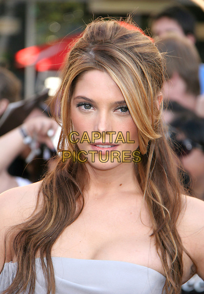 "ASHLEY GREENE.attends the 2010 Los Angeles Film Festival Premiere of ""The Twilight Saga: Eclipse"" at the Nokia Theatre L.A. Live, Los Angeles, CA, USA, June 24th, 2010.portrait headshot strapless grey gray .CAP/LNC/KR.©Kuroda/LNC/Capital Pictures."