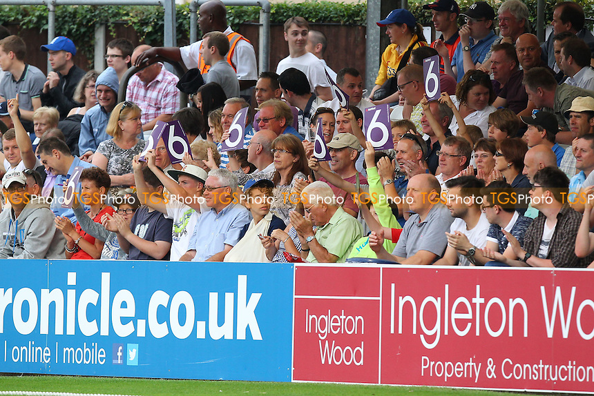 Essex fans celebrate another big six - Essex Eagles vs Sussex Sharks - NatWest T20 Blast Cricket at the Essex County Ground, Chelmsford, Essex - 25/07/14 - MANDATORY CREDIT: Gavin Ellis/TGSPHOTO - Self billing applies where appropriate - contact@tgsphoto.co.uk - NO UNPAID USE