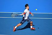 8th January 2018, ASB Tennis Centre, Auckland, New Zealand; ASB Classic, ATP Mens Tennis;  Yuichi Sugtia (JPN) during the ASB Classic ATP Men's Tournament Day 1
