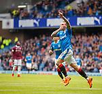 22.04.2018 Rangers v Hearts: Jason Cummings celebrates his goal