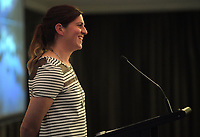 Referee and former Black Fern Rebecca Mahoney speaks during Little Talks at Solway Copthorne Hotel in Masterton, New Zealand on Thursday, 27 July 2017. Photo: Dave Lintott / lintottphoto.co.nz