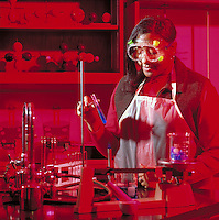 Young woman in advanced chemistry class at Hot Springs High School for Sciences and Math, AR. Hot Springs, Arkansas.