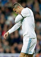 Real Madrid's Cristiano Ronaldo injured during La Liga match. November 5,2017. (ALTERPHOTOS/Acero)