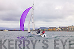 Wind in their sails: Donal O'Mahony and Padraic O'Donoghue(at the helm) as they pass Knightstown during the Inter Club Autumn Regatta in Cahersiveen at the weekend.