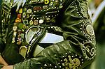 Traditional rocker jacket and pudding basin helmet.<br /> <br /> &copy;&nbsp;Hazel Thompson