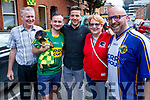 Tom Scollard (Scartaglin) Anthony Kelly with Jess the dog (Killarney) Michael Rice (Liverpool) Maureen Scollard (Scartaglin) and Shane Lenihan (Listowel), Kerry fans pictured at the All Ireland SFC quarter final Kerry v Galway in Croke Park, Dublin on Sunday.