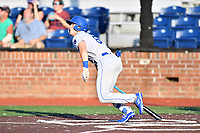 Burlington Royals Michael Massey (6) runs to first base during game one of the Appalachian League Championship Series against the Johnson City Cardinals at TVA Credit Union Ballpark on September 2, 2019 in Johnson City, Tennessee. The Royals defeated the Cardinals 9-2 to take the series lead 1-0. (Tony Farlow/Four Seam Images)
