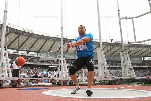 Koji Murofushi (JPN), <br /> June 9, 2013 - Athletics : <br /> The 97th Japan Athletics National Championships, Men's Hammer Throw Final <br /> at Ajinomoto Stadium, Tokyo, Japan. <br /> (Photo by Daiju Kitamura/AFLO SPORT)