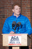 Representative Joe Kennedy atSave Affordable Care Act rally with MA Congressional delegation at Faneuil Hall Boston MA 1.15.17