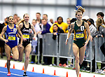 BROOKINGS, SD - FEBRUARY 25:  Amy Andrushko from North Dakota State University leads the pack down the stretch in the women's 800 meter run at the 2017 Summit League Indoor Track and Field Championship Saturday afternoon in Brookings, SD. (Photo by Dave Eggen/Inertia)