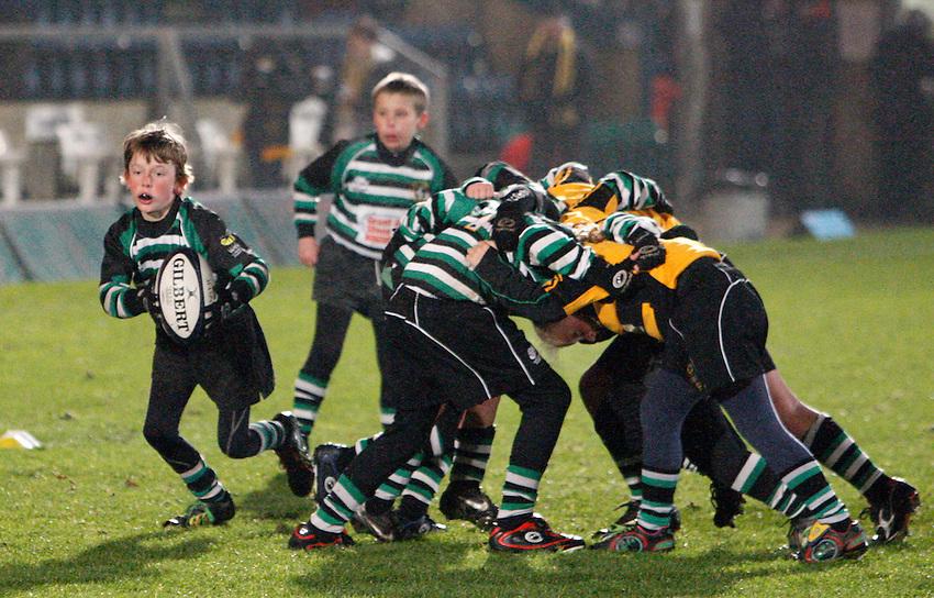 Photo: Richard Lane/Richard Lane Photography. London Wasps v Aviron Bayonne. Amlin Challenge Cup. 13/12/2012. Mini Rugby.