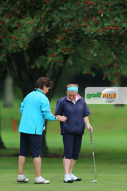 Lorna Mitchell (Strabane) during the Ulster Mixed Foursomes Final, Shandon Park Golf Club, Belfast. 19/08/2016<br /> <br /> Picture Jenny Matthews / Golffile.ie<br /> <br /> All photo usage must carry mandatory copyright credit (© Golffile | Jenny Matthews)