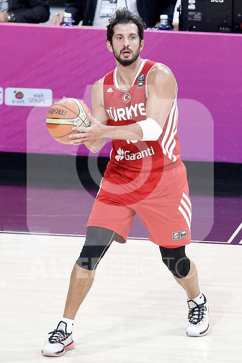 Turkey's Kerem Tunceri during 2014 FIBA Basketball World Cup Quarter-Finals match.September 9,2014.(ALTERPHOTOS/Acero)