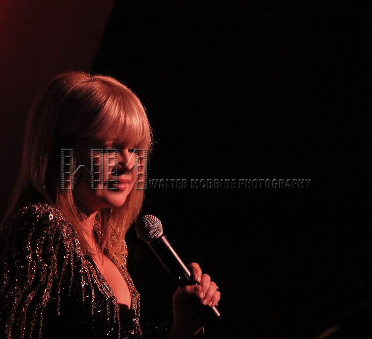 Pia Zadora performing her Opening Night engagement 'Pia Zadora - Back Again and Standing Tall' at  The Metropolitan Room in New York City on 2/7/2013
