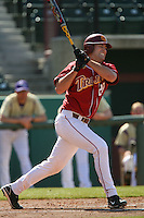 Keith Castillo USC Trojans during game against the  Western Carolina Catamounts at Dedeaux Field in Los Angeles,CA.  Photo by Larry Goren/Four Seam Images