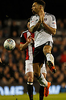Ryan Fredericks of Fulham FC avoids a clearance during the Sky Bet Championship match between Fulham and Sheff United at Craven Cottage, London, England on 6 March 2018. Photo by Carlton Myrie.