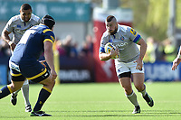 Nathan Charles of Bath Rugby in possession. Aviva Premiership match, between Worcester Warriors and Bath Rugby on April 15, 2017 at Sixways Stadium in Worcester, England. Photo by: Patrick Khachfe / Onside Images