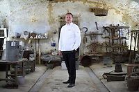 Gregor Zimmermann, Chef in charge of official receptions in Switzerland, poses for a portrait in the Cascina Colombara during the annual meeting of the Club des Chefs des Chefs in Livorno Ferraris, Vercelli, Italy, July 18, 2015.<br /> The Club des Chefs des Chefs, which is seen as the world&rsquo;s most exclusive gastronomic society, has extremely strict membership criteria: to be accepted into this highly elite club, you need to be the current personal chef of a head of state. If he or she does not have a personal chef, members can be the executive chef of the venue that hosts official State receptions. One of the society&rsquo;s primary purposes is to promote major culinary traditions and to protect the origins of each national cuisine. The Club des Chefs des Chefs also aims to develop friendship and cooperation between its members, who have similar responsibilities in their respective countries. <br /> The annual meeting of the Club has been hosted this year in the production site of the Italian rice company called Riso Acquerello. <br /> &copy; Giorgio Perottino