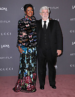 04 November  2017 - Los Angeles, California - Mellody Hobson, George Lucas. 2017 LACMA Art+Film Gala held at LACMA in Los Angeles. <br /> CAP/ADM/BT<br /> &copy;BT/ADM/Capital Pictures